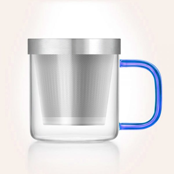 Taza de Té con asa azul - Tés camellia