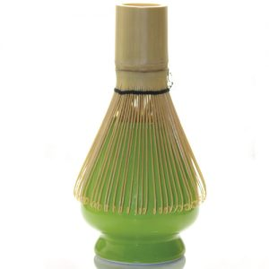 Soporte para escobilla de porcelana verde japonés - Matcha