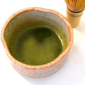 Vasija ceremonial original japonesa Blanca - Matcha
